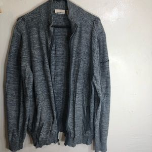 DKNY Jeans Men XL Gray Zip Up Cardigan